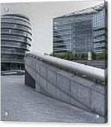City Hall And The Shard Hms Belfast Thames London Acrylic Print