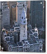City Hall Broad St And Market St Philadelphia Pennsylvania 19107 Acrylic Print