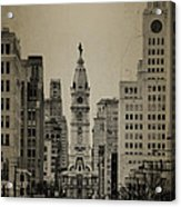 City Hall From North Broad Street Philadelphia Acrylic Print