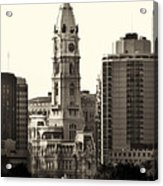City Hall From The Parkway - Philadelphia Acrylic Print