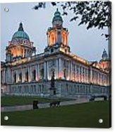City Hall Illuminated Belfast, County Acrylic Print