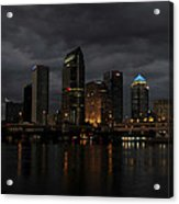 City In The Storm Acrylic Print