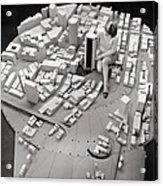 City Model Of Sydney, 1969 Acrylic Print