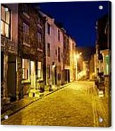 City Street At Night, Staithes Acrylic Print