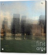 City View Through Window Acrylic Print by Catherine Lau