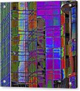 City Windows Abstract Pop Art Colors Acrylic Print