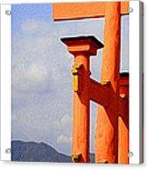 Citymarks Miyajima Acrylic Print by Roberto Alamino