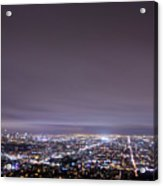 Cityscape, Los Angeles Acrylic Print by Eric Lo
