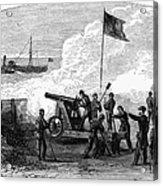 Civil War Battery Acrylic Print