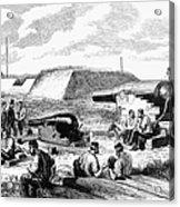 Civil War Battery Scene Acrylic Print