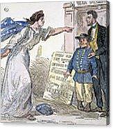 Civil War Cartoon Acrylic Print