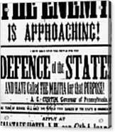 Civil War: Lees Campaign Acrylic Print