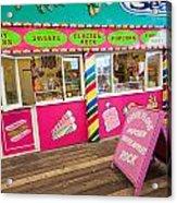 Clacton Pier Shop Acrylic Print