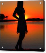 Claire Acrylic Print by Tamyra Ayles