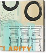 Clarity Acrylic Print by Linda Woods
