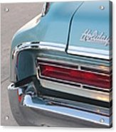 Classic Car Aqua Holiday Acrylic Print