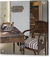 Classic Desk And Display Cases Acrylic Print