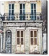 Classic French Quarter Residence New Orleans Colored Pencil Digital Art Acrylic Print