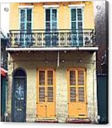 Classic French Quarter Residence New Orleans Film Grain Digital Art Acrylic Print