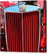 Classic Red Mg Acrylic Print