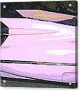 Classic Tails - Pink 1959 Cadillac Acrylic Print