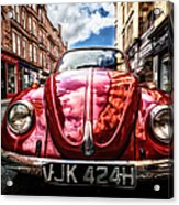 Classic Vw On A Glasgow Street Acrylic Print by John Farnan