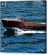 Classic Wooden Boat Acrylic Print