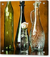 Classy Glass Acrylic Print by Peter Chilelli