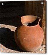 Clay Pot And Shadow Acrylic Print