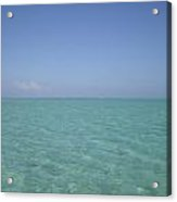 Clear Blue Water V Crystal Clear Sky Acrylic Print