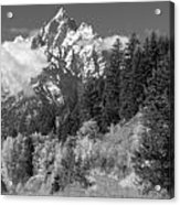 Clearing Storm On Grand Teton  Acrylic Print