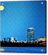 Clearwater At Night Acrylic Print