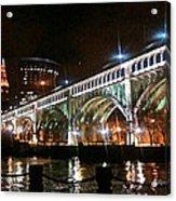 Cleveland Reflection Acrylic Print by Rotaunja