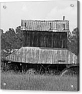 Clewis Family Tobacco Barn II In Black And White Acrylic Print