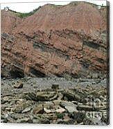 Cliffs At Joggins Nova Scotia Acrylic Print