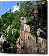 Cliffs On The St Croix Acrylic Print