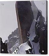 Climbers Move Carefully Across Steep Acrylic Print