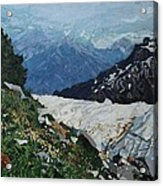 Climbing Mount Rainier Acrylic Print