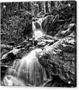 Climbing Up Broads Fork Bw Acrylic Print