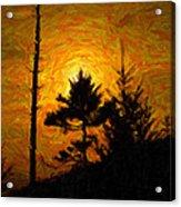 Clingmans Dome Sun Spot Acrylic Print