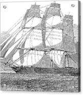 Clipper Ship, 1850 Acrylic Print