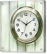 Clock On The Wall Acrylic Print by Sandra Cunningham
