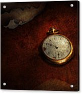 Clock - Time Waits For Nothing  Acrylic Print