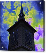 Clock Tower Night Acrylic Print