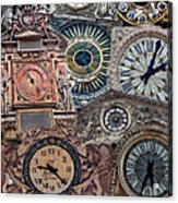 Clocks Of Paris Acrylic Print