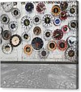 Clocks On The Wall Acrylic Print