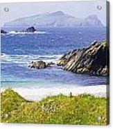 Clogher Beach, Blasket Islands, Dingle Acrylic Print