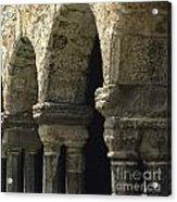Cloister Of Lavaudieu. Haute Loire. Auvergne. France. Acrylic Print