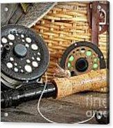 Close-up Fly Fishing Rod  Acrylic Print