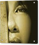 Close-up Of A Beautiful Asian Woman Acrylic Print by Sandra Cunningham